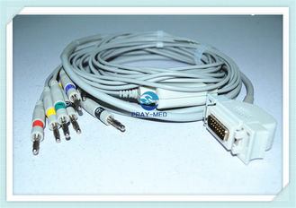 China Siemens/Hellige Cardiostat 1 cabo do ECG com Leadwires/banana 4.0mm fornecedor