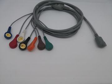 DMS 3m Length ECG Electrode Cable 7 Leads With One Year Warranty 4mm Diameter